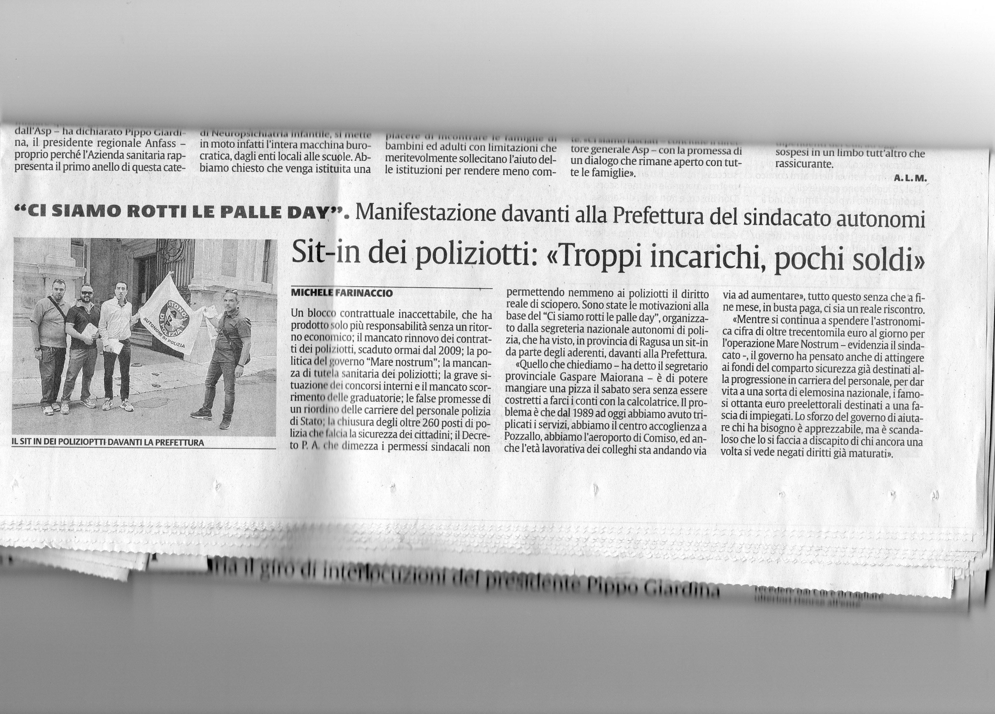 la sicilia del 18 luglio 2014